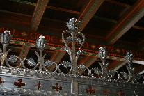 Ornate Wrought Iron Candle Holder Cresting